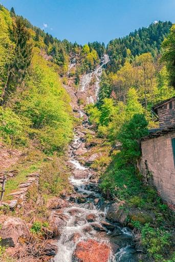 """The waterfall """"La Borleggia"""""""