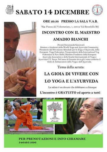 Eventi Val Brembana - Conferenza Yoga e Ayurveda