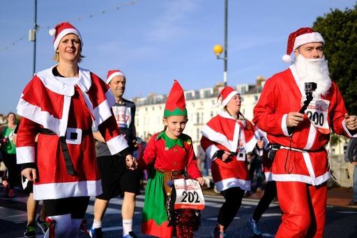 La corsa dei Babbi Natale